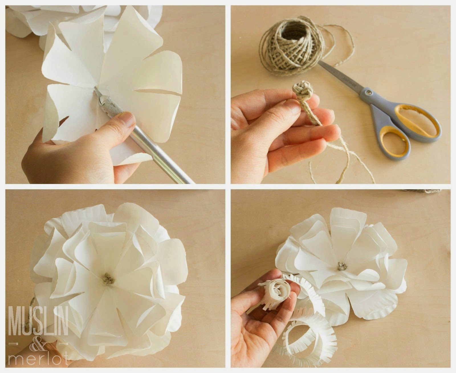 Paper Plate Flowers Step By Step Instructions