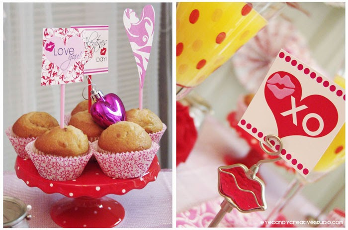 breakfast muffins, valentines breakfast ideas, kiss me, mimosa