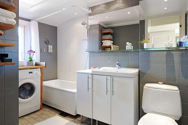 Home styling ana antunes washing machine in the kitchen for Washing machine in bathroom ideas