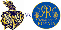 KKR vs RR Scorecard