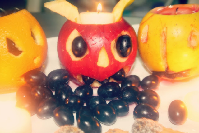 spooky halloween fruits scary