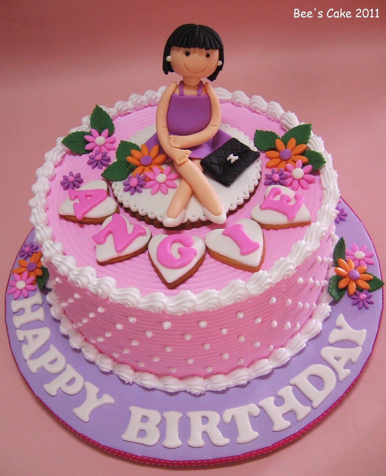 Bees Cake Happy Birthday Angie