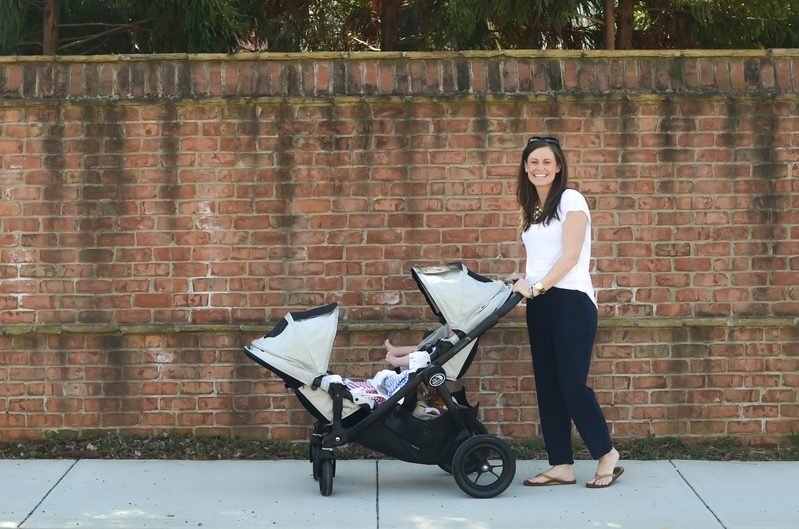 IRON & TWINE: Weekend Stroll With Our City Select Double Stroller