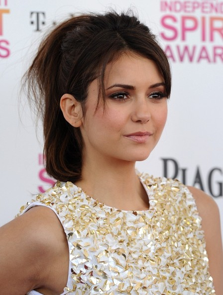 steal their style nina dobrev 39 s glam white and gold style. Black Bedroom Furniture Sets. Home Design Ideas