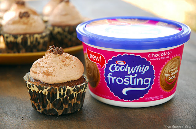 Cool Whip Frosting: Milk Chocolate Mocha Cupcakes