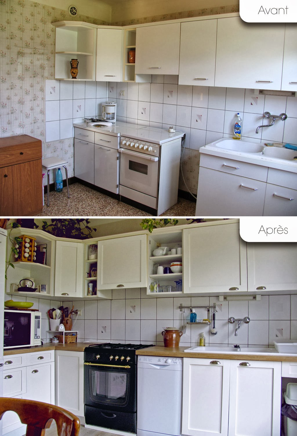 ma chambre claire notre cuisine avant apr s. Black Bedroom Furniture Sets. Home Design Ideas