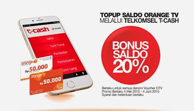 Cara Top Up Isi Saldo Orange TV Potong Pulsa Telkomsel