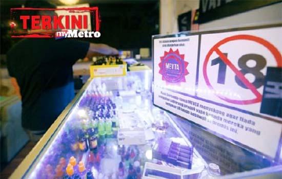 Kementerian Kesihatan akan rampas perisa vape mengandungi nikotin