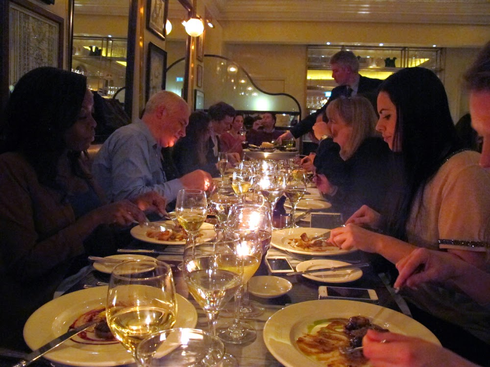 Bloggers dinner with Jori White PR at Boulestin French restaurant in St James, London