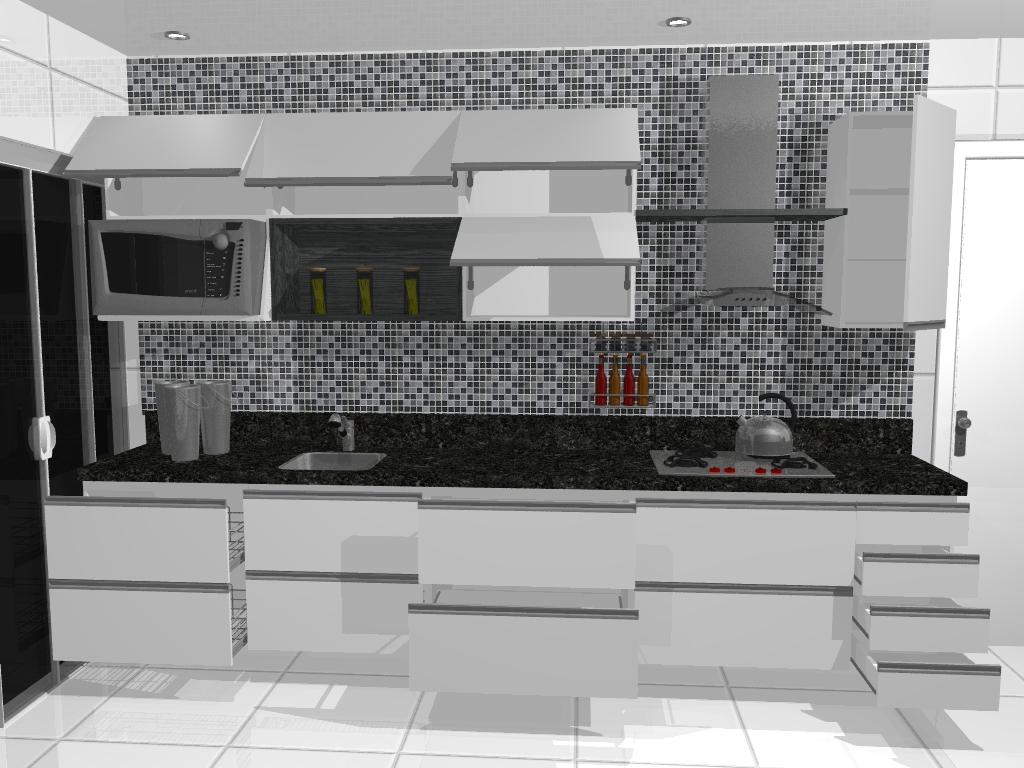 Cozinhas Planejadas Em Preto E Branco Bella Kaza M Veis