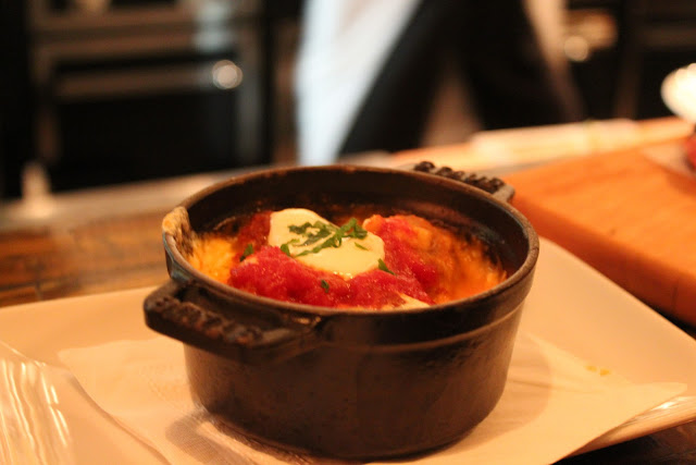 Baked veal and pancetta meatballs at Aragosta Bar + Bistro, Boston, Mass.