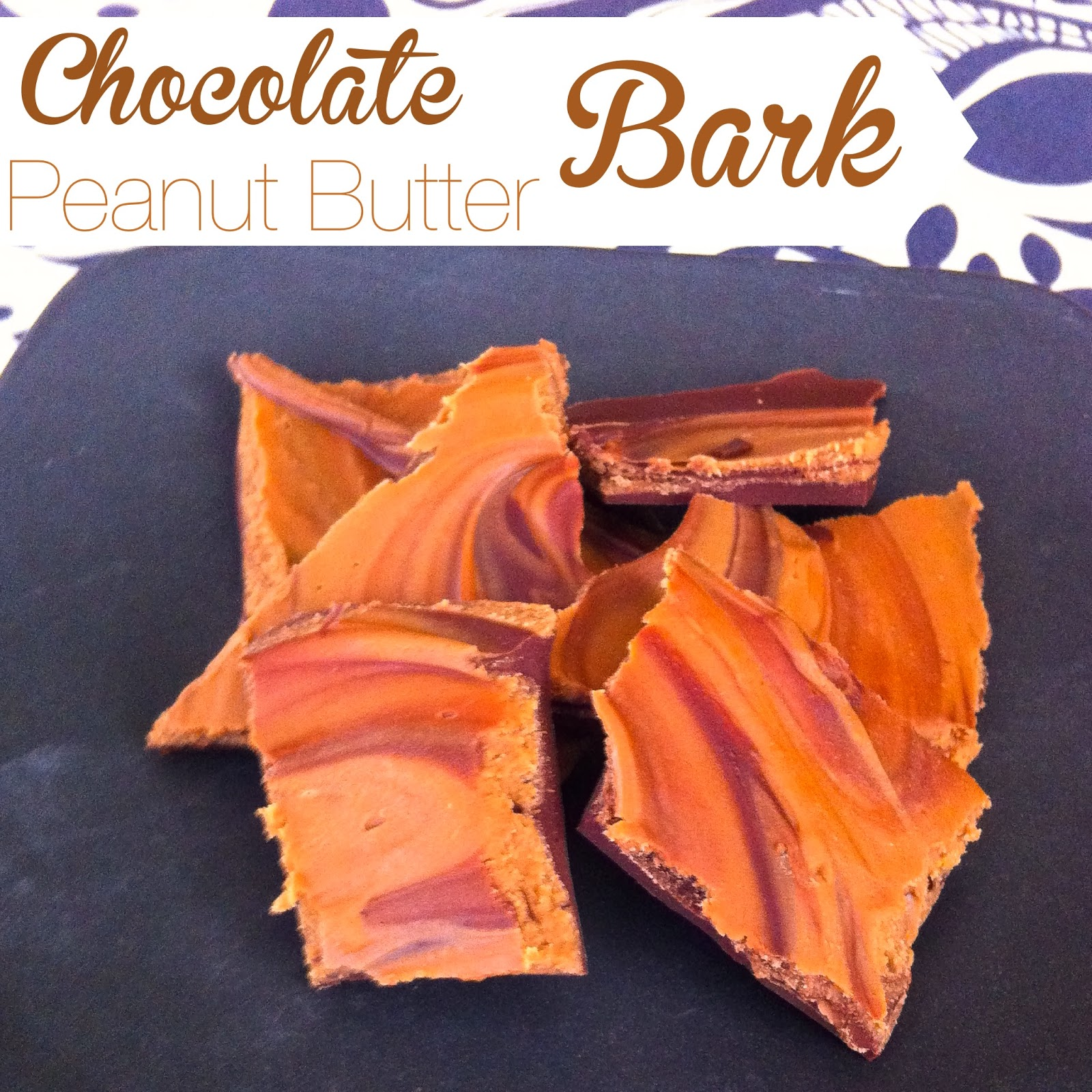Chocolate Peanut Butter Bark that is easy and AMAZINGLY tasty. Alohamora Open a Book http://alohamoraopenabook.blogspot.com/