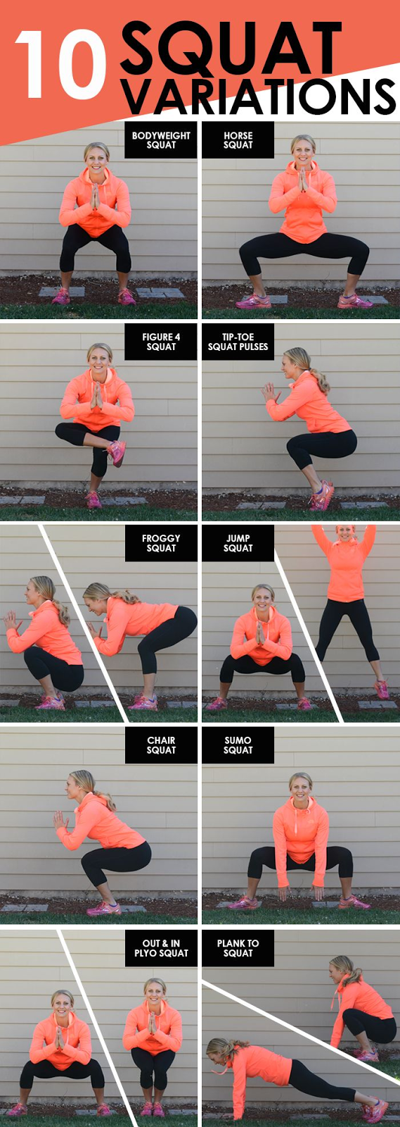 10 Squat Variations + The Northface Mountain Athletics Gear