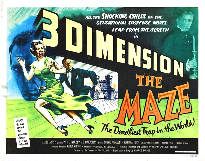 Póster: The maze, 1953