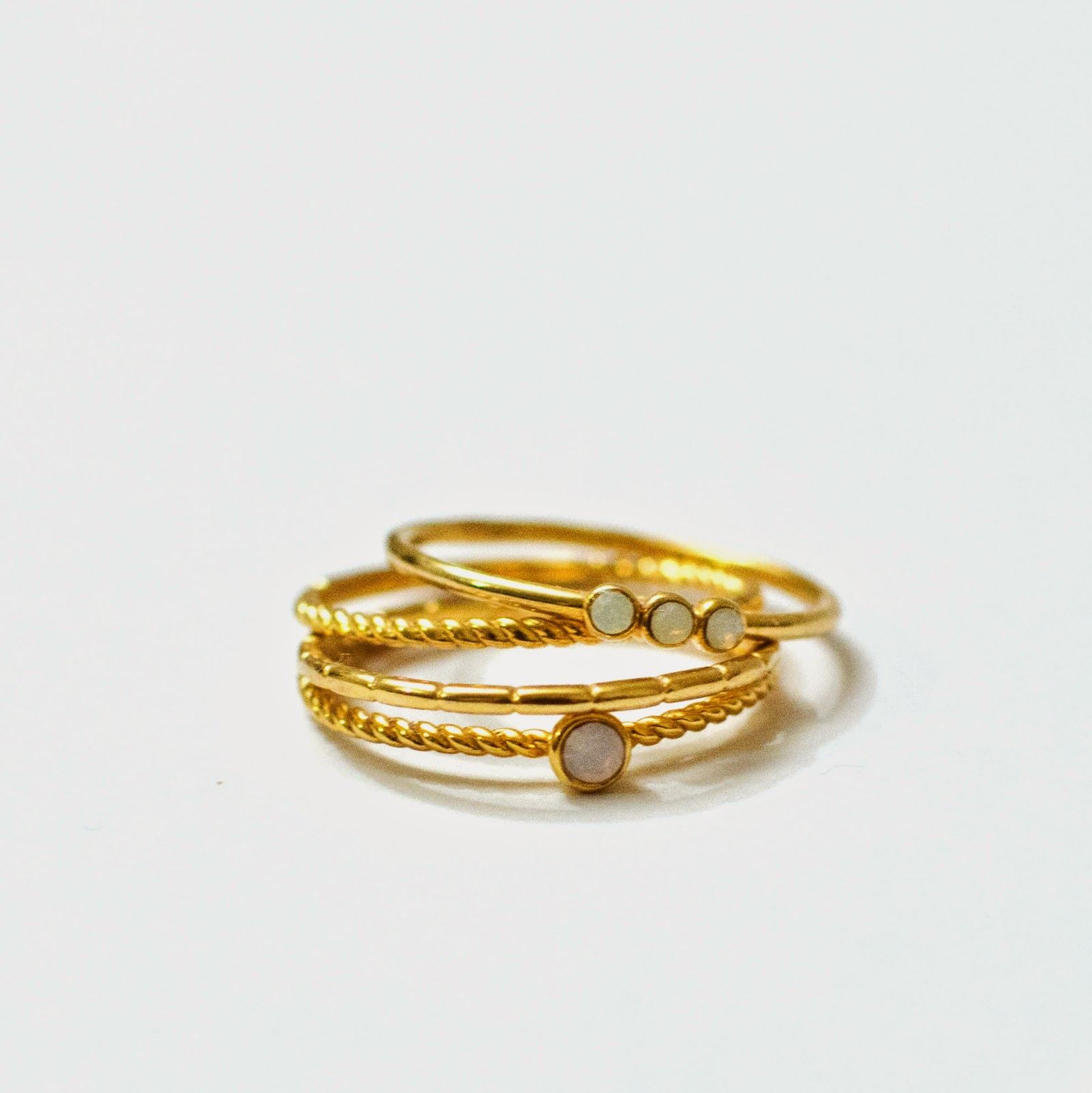 accessorize rings gold plated z stacking