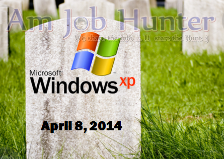 Microsoft stop supporting XP by april 8 2014