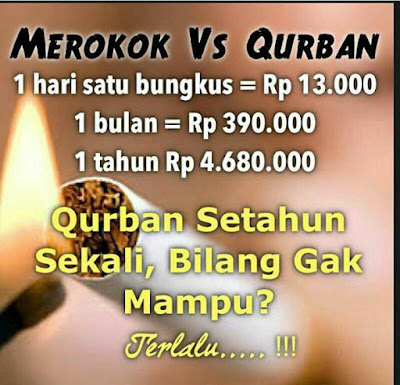 muslim cerdas stop rokok investasikan untuk qurban