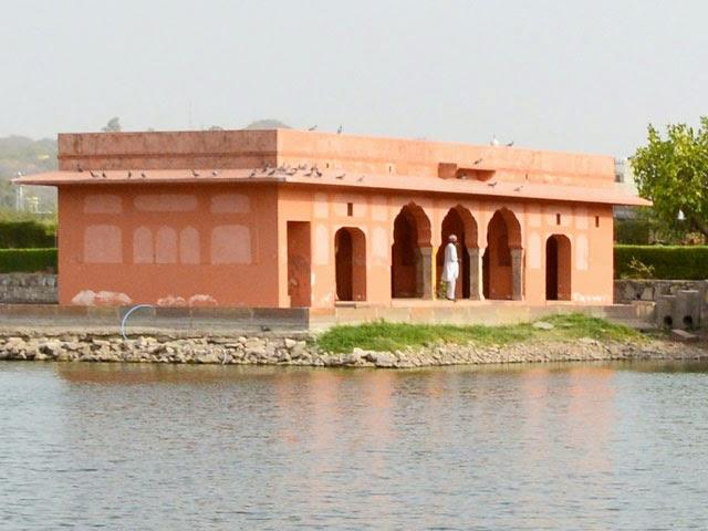 Ruins inside lake