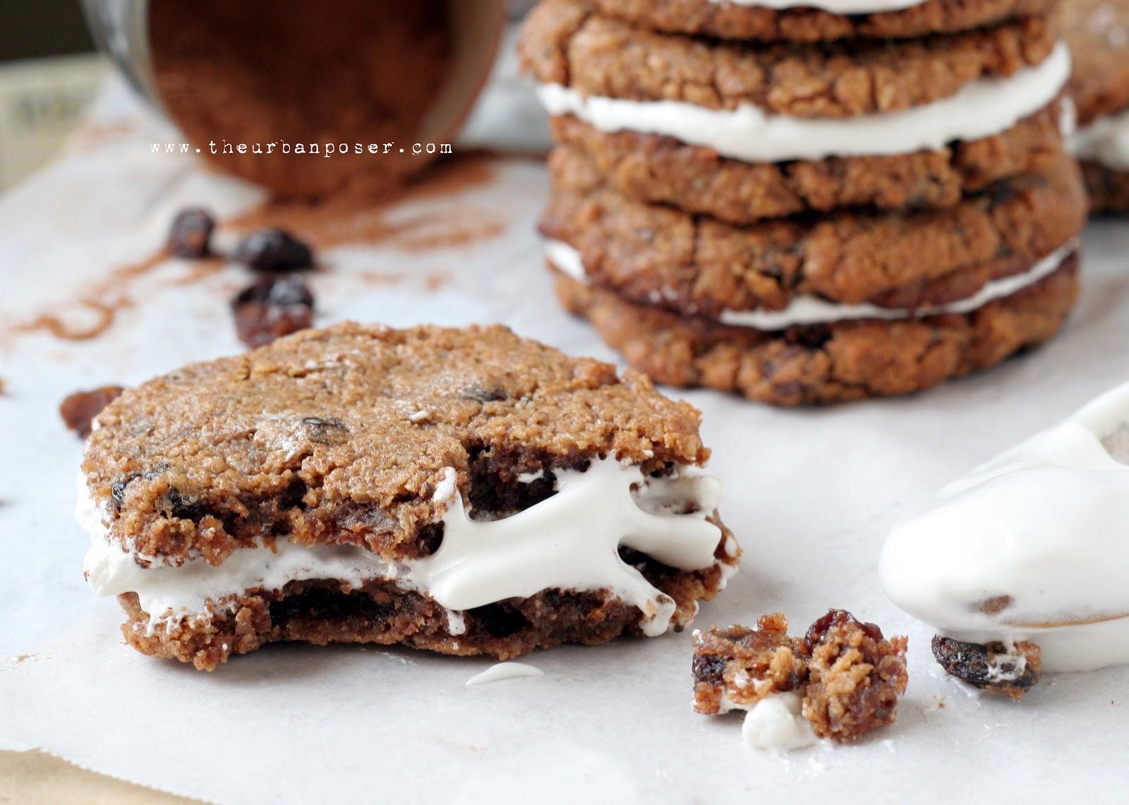 Grain Free No 'Oatmeal' Creme Pie Cookies W/Marshamallow Cream (Egg ...