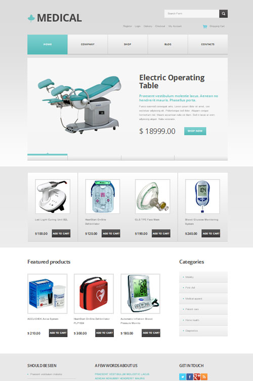 medical equipment store