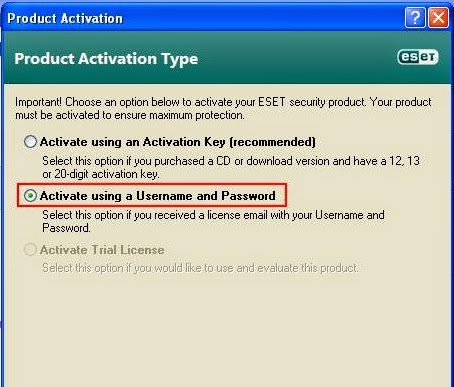 Update Eset NOD32