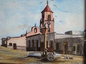 mi desaparecida iglesia, mis acrilicos