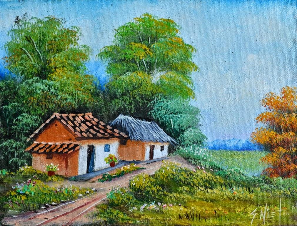 Cuadros modernos pinturas y dibujos paisajes decorativos - Paisajes de casas ...