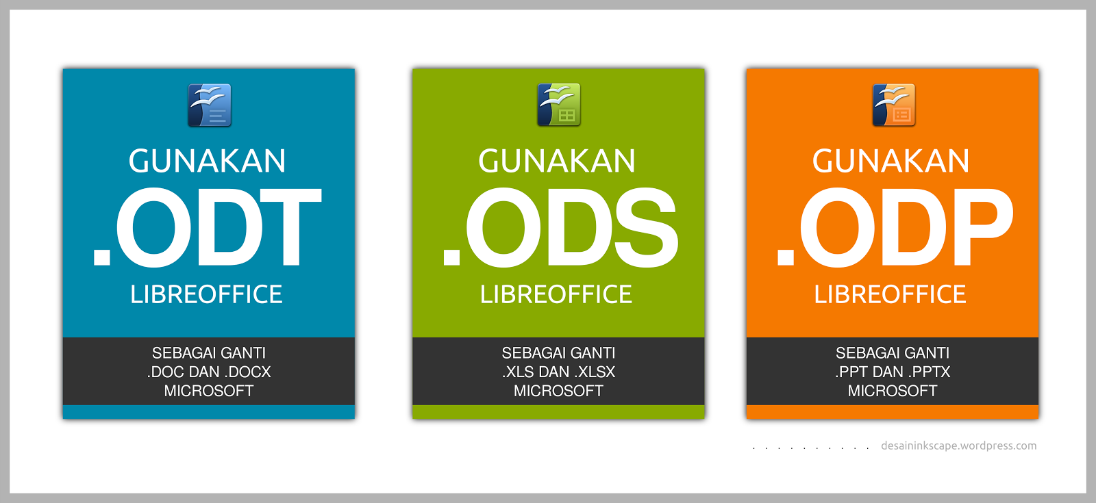 Gunakan file format .ODF mulai sekarang!!!