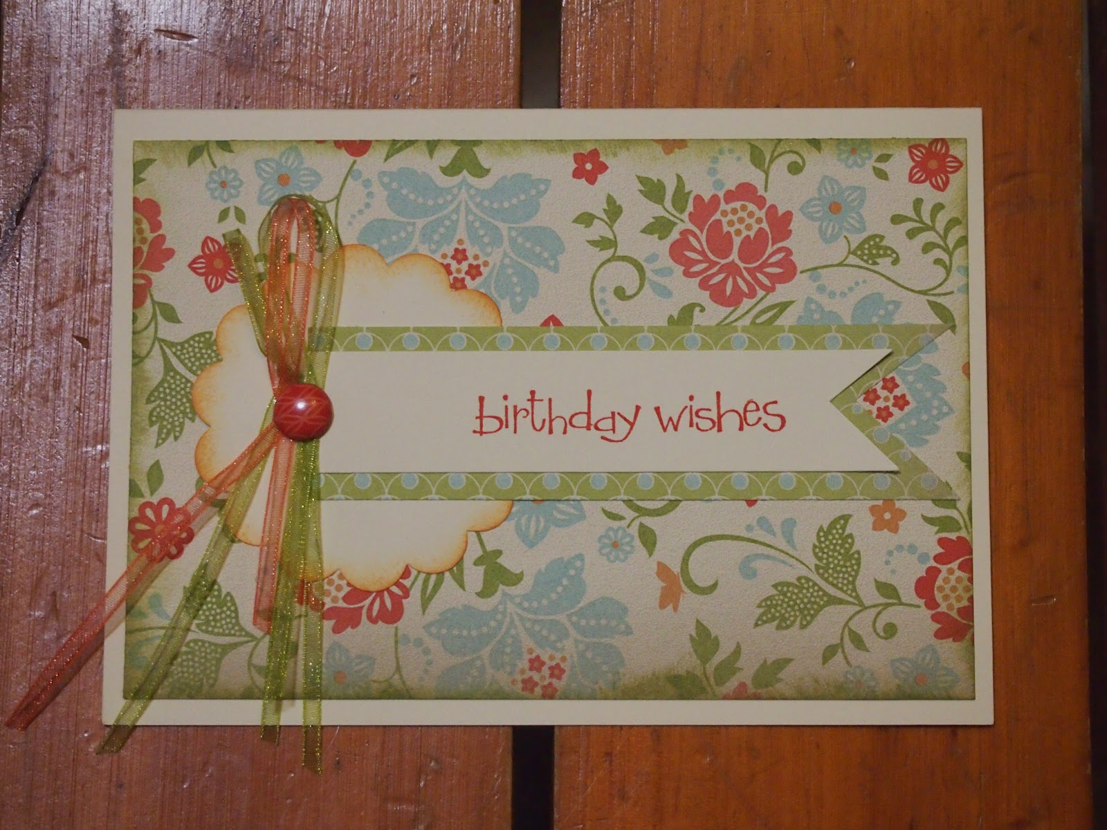 Flushed with Rosy Colour A Very Pretty Birthday Card