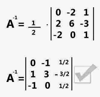 Cara Mencari Invers Matriks ordo 3x3