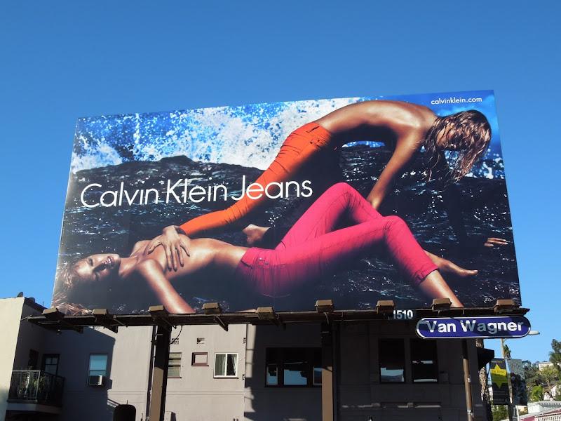 Calvin Klein SS 2012 Jeans Lara Stone billboard