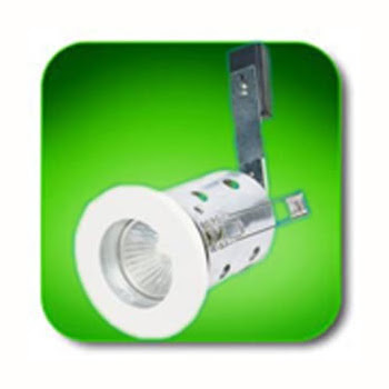 The Low Voltage FRIPLVWH IP65 White Downlight, Fire rated ceiling recessed light
