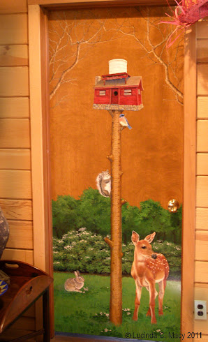 Growth chart on door