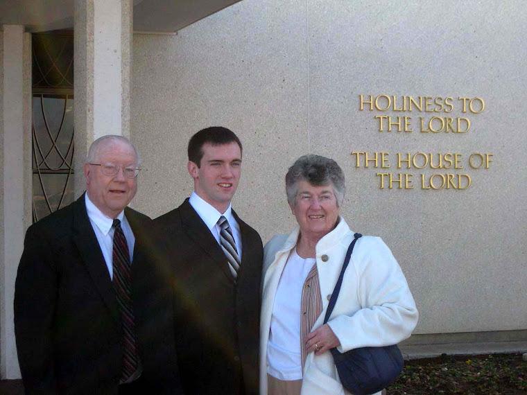 At Provo Temple with Grandma and Grandpa Buckwalter