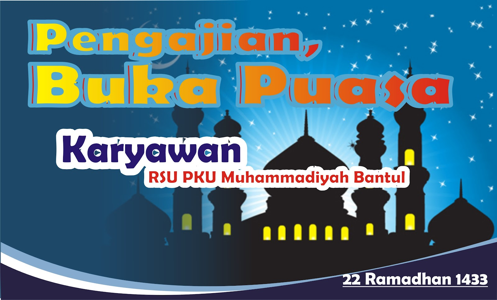 Contoh Backdrop Background Muhammadiyah