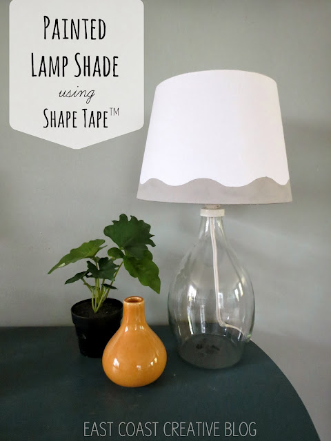 Shape tape painted lamp shade diy east coast creative blog - Creative lamp shades ...