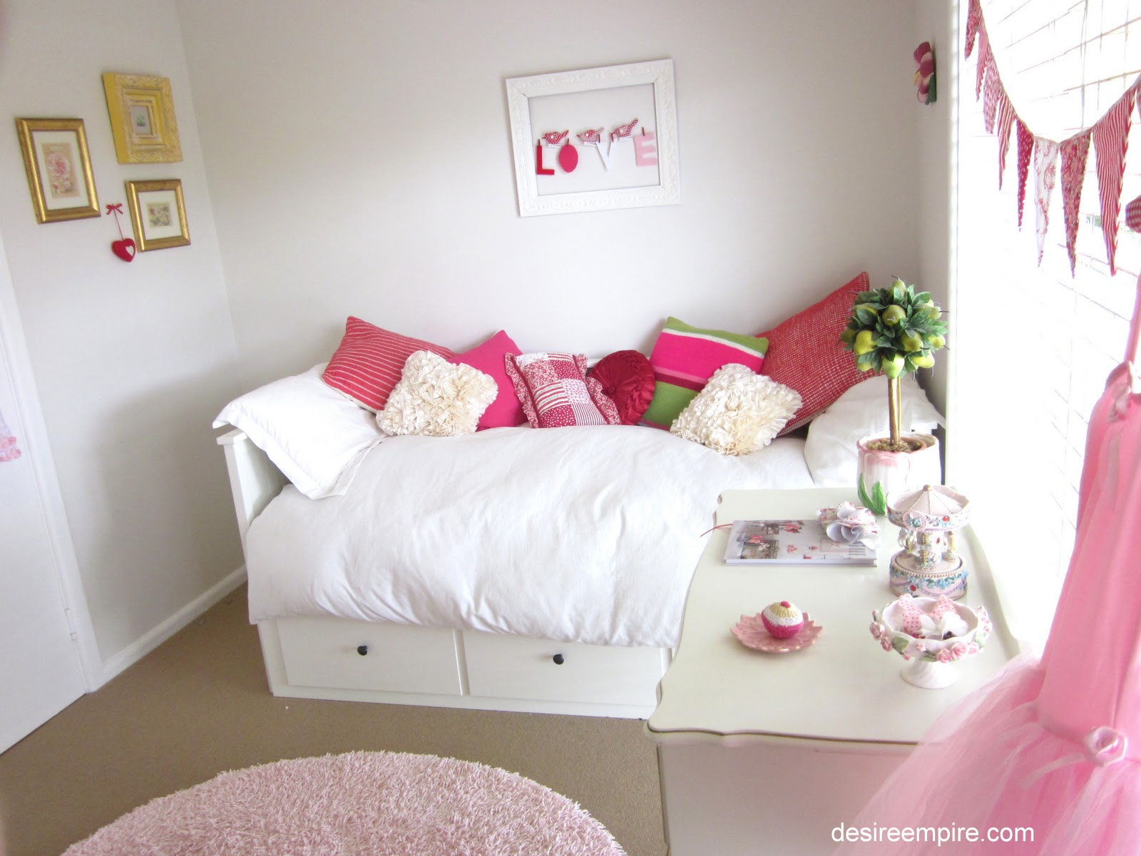 My little girl 39 s bedroom reveal desire empire - Girl bed room ...