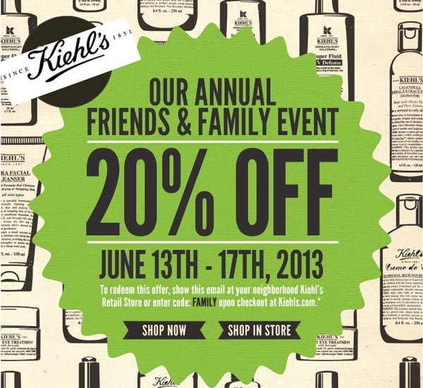 Kiehl's coupon 2018