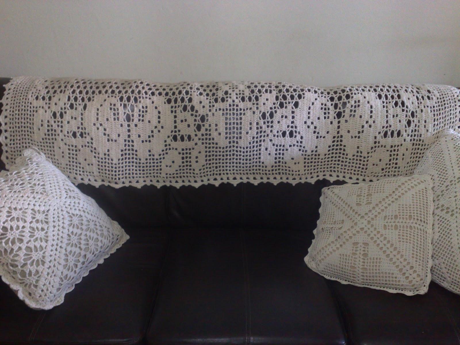 Artesanato De Croche Em Barbante ~ CROCHE ARTESANATO Manta de rosas para sofá de barbante em