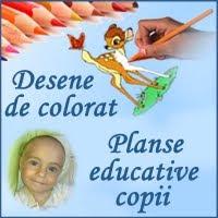 Desene de colorat si planse educative copii
