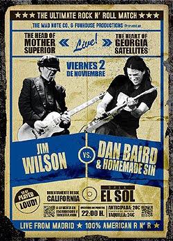 Dan Baird y Jim Wilson juntos en Bilbao, Madrid y Barcelona en Noviembre