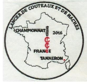 ECUSSON BRODE ROND 9 CM CHAMPIONNAT DE FRANCE TANNERON