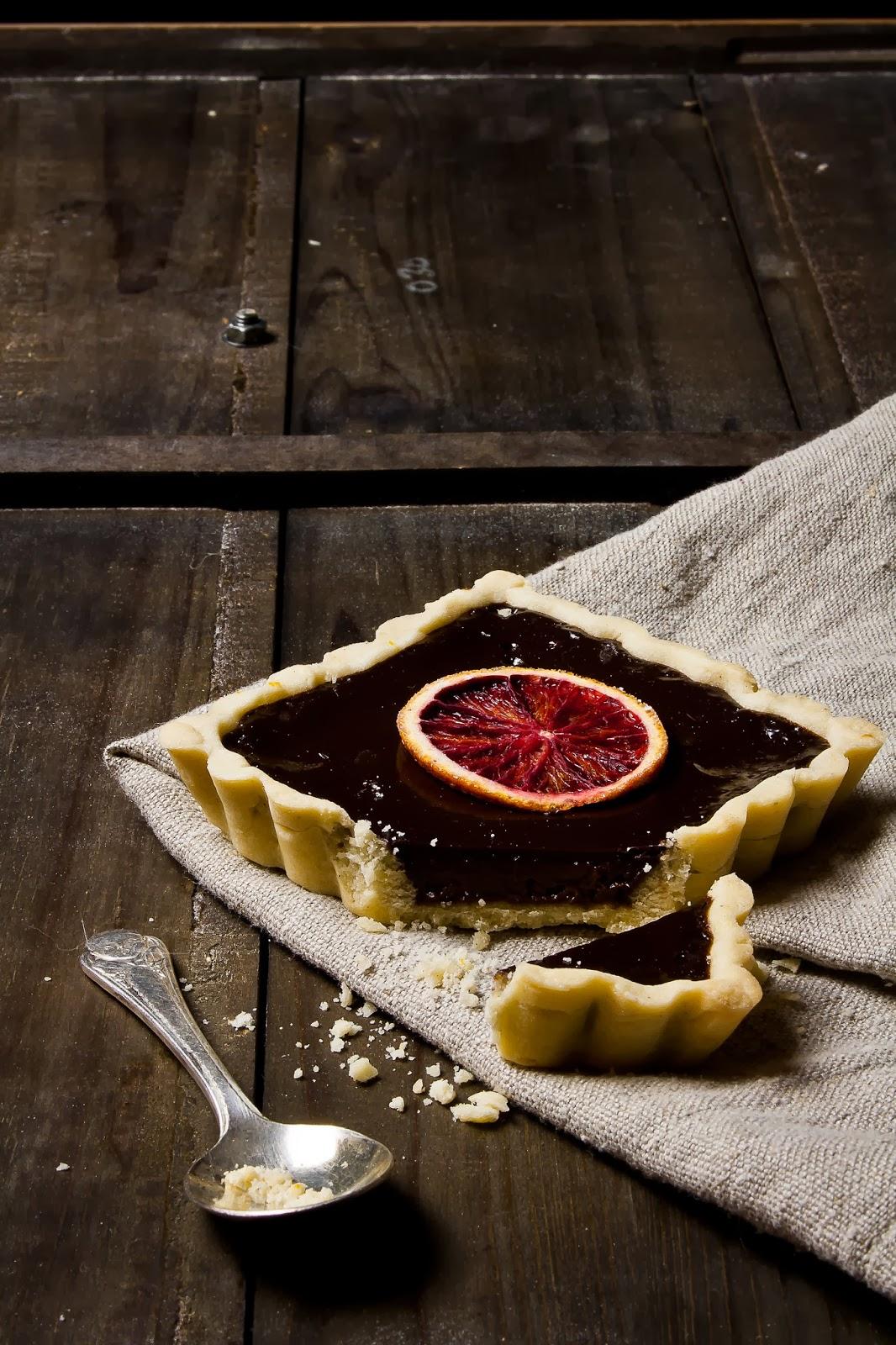 Dark Chocolate Orange Tarts with Orange Scented Sablé | Hint of ...