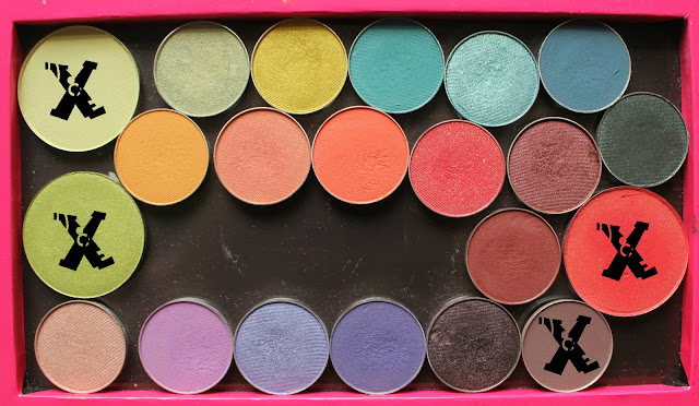 Makeup Geek Brights in Large Z Palette