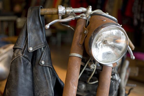Klassische Motorrad Jacke