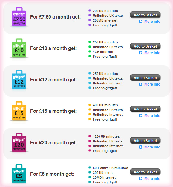 £5 Free Credit GiffGaff Mobile Network
