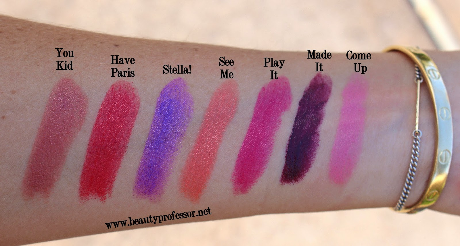 lipstick queen silver screen swatches