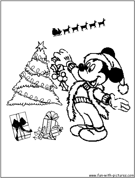 Disney Minnie Christmas Coloring Pages