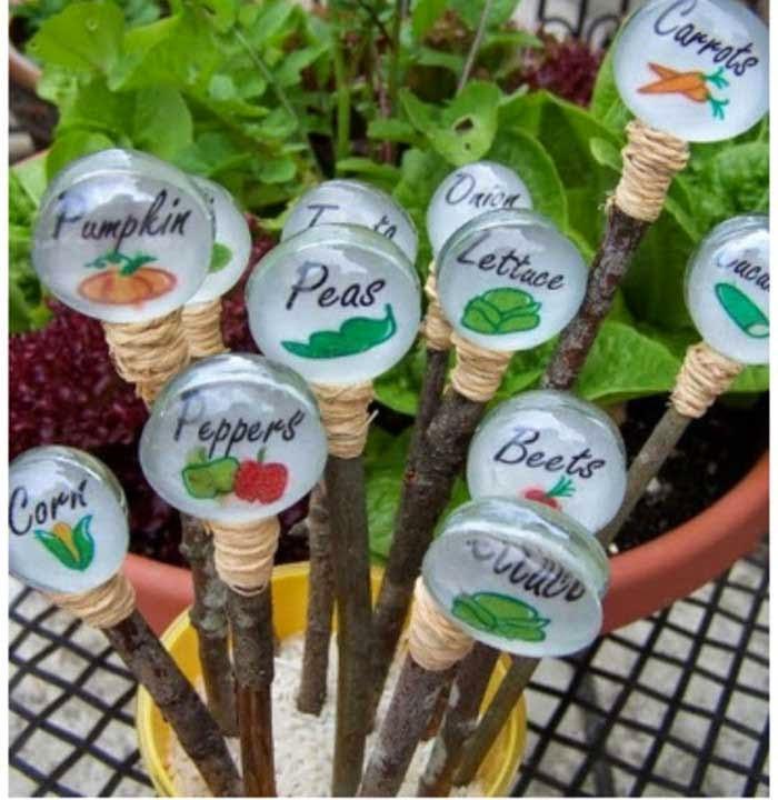 Recicla Inventa: Cómo hacer carteles para las plantas