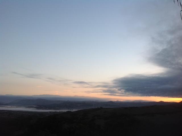 Low fog with morning sunrise